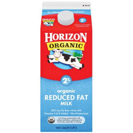 Horizon Organic 2% Reduced Fat Milk, .5 gal