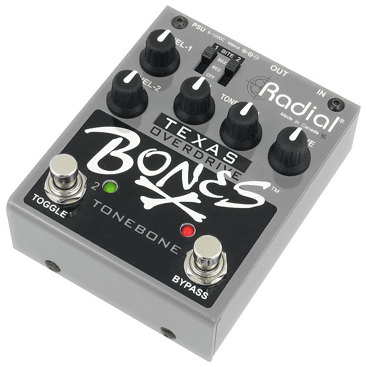 Radial Tonebone Bones Texas Dual Mode Overdrive Pedal Stompbox Footswitch by Radial Engineering Ltd