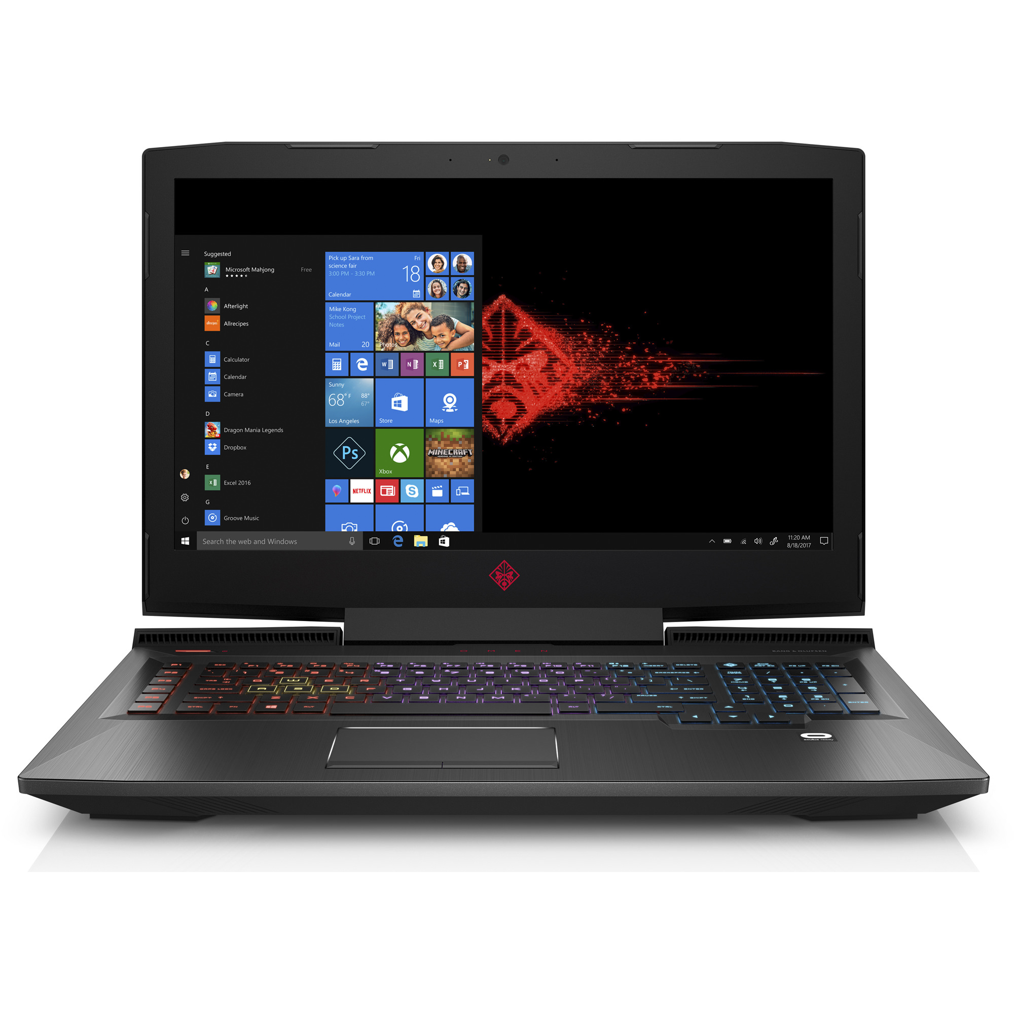"HP OMEN 17-an110nr Gaming Laptop 17.3"", Intel Core i7-8750H, NVIDIA GeForce GTX 1050 Ti 4 GB, 1TB HDD + 128GB SSD, 12GB RAM, 3WE36UA#ABA"