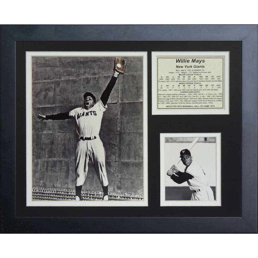 "Legends Never Die Willie Mays The Catch Framed Photo Collage, 11"" x 14"""