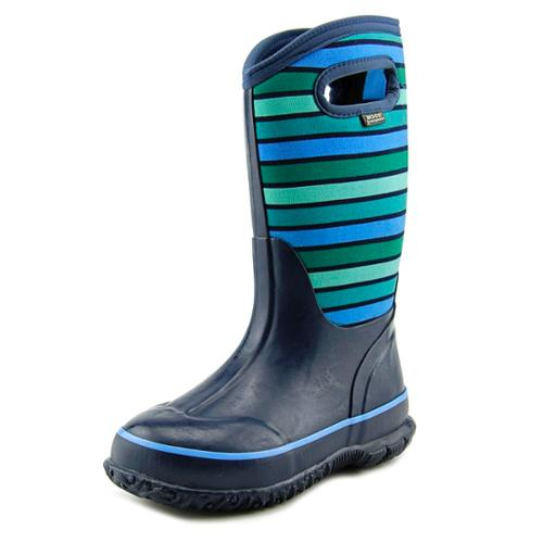 Bogs K Classic Stripes Youth US 3 Multi Color Rain Boot