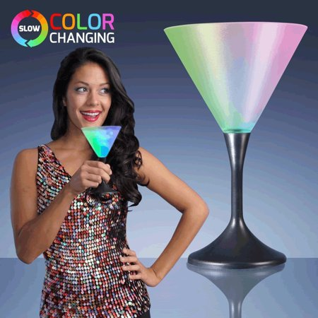 Martini Drinking Glass with Black Stem by, Blinkee Fun! By blinkee - Halloween Martini With Dry Ice