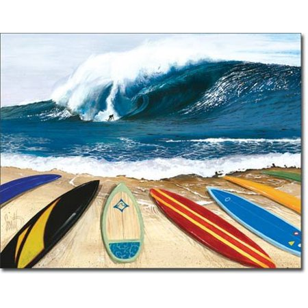 Paradise Surf Sign - Surfing Wait Your Turn Tin Sign 16 x 13in