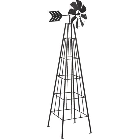 Panacea Products-Windmill Obelisk- Black 72 Inch ()
