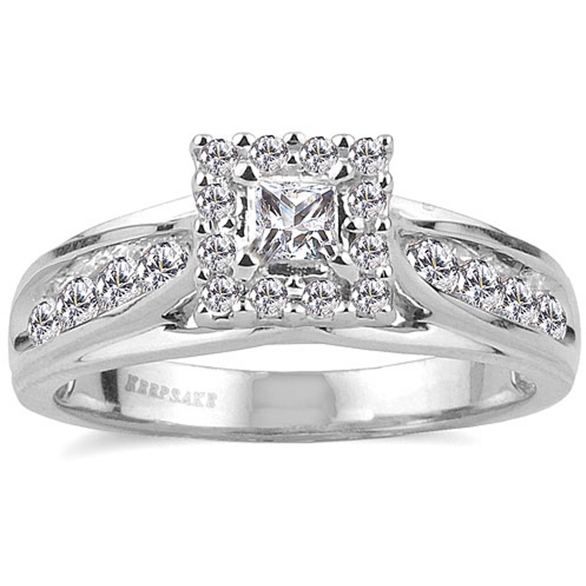 keepsake melody 1/2 carat t.w. certified diamond 10kt white gold