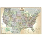 24x36 United States, USA US Executive Wall Map Poster Mural Laminated