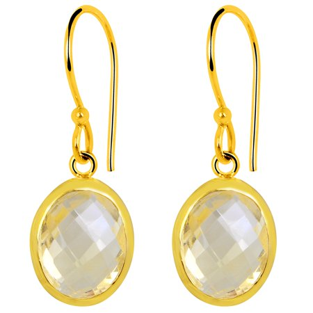Orchid Jewelry 6ct. TGW Citrine 14k Yellow Gold Overlay Sterling Silver Earrings