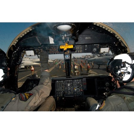 A view from the Tactical Coordinators position aboard a US Navy S-3B Viking aircraft Poster Print by Stocktrek