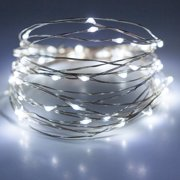 Unido Box 2 Pack Mini Fairy String Lights 20 LED, Cool White, 7' ft/2m