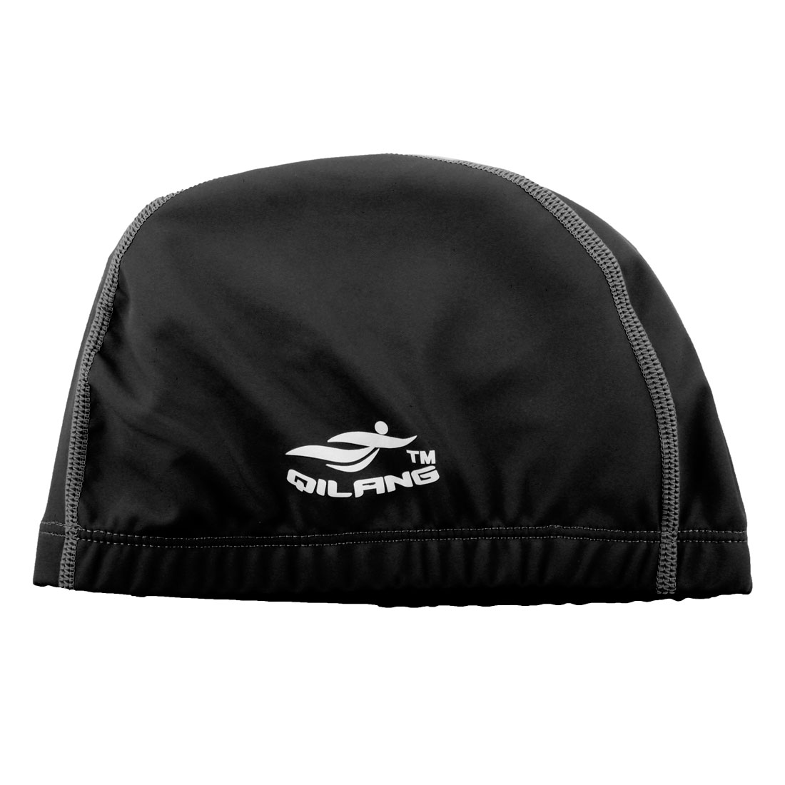 Unisex Dome Shaped Non-slip Stretchable Swimming Cap Portable Bathing Hat Black