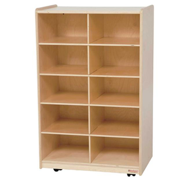 Wood Designs 16109PP Vertical Storage With 10 Purple Trays
