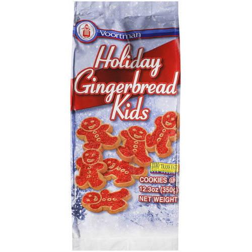 Voortman Holiday Gingerbread Kids Cookies, 12.3 oz - Walmart.com