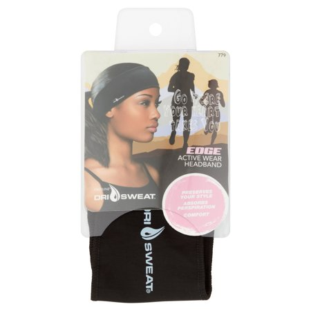 - Dri Sweat Edge Women's Active Wear Headband, Black