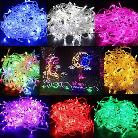5 Colors 3M 30 LED Mini String Fairy Light Bulb Lamp for Wedding Christmas Holiday Party Home Decoration College Dorm Room Accessory,Battery Powered (Battery is not included)