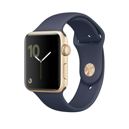 Refurbished Apple Watch Gen 2 Ser. 1 38mm Gold Aluminum - Midnight Blue Sport Band MQ102LL/A
