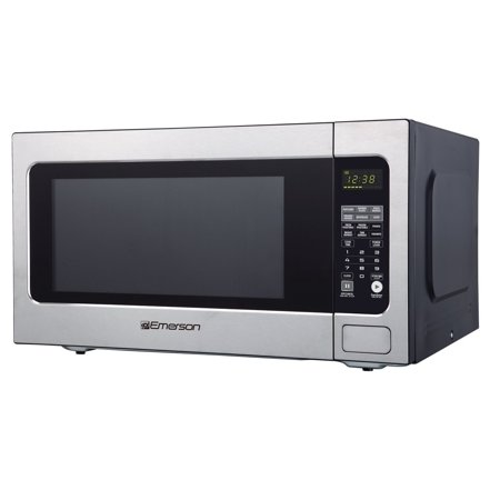Emerson ER105003 2.2 cu. ft. 1200W, Sensor Cooking Touch Control, Counter Top Microwave Oven, Stainless (Emerson Stainless Steel Microwave 1-3 Cu Ft)