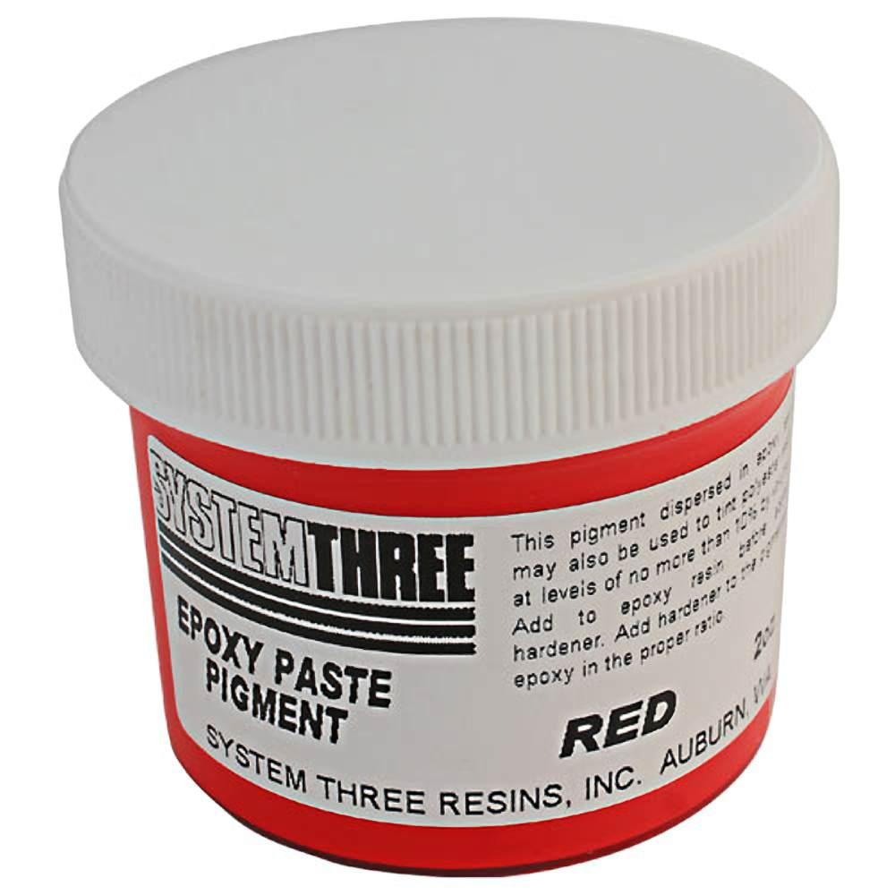 System Three 3206A04 Red Paste Pigment Coating, 2 Oz. Bottle