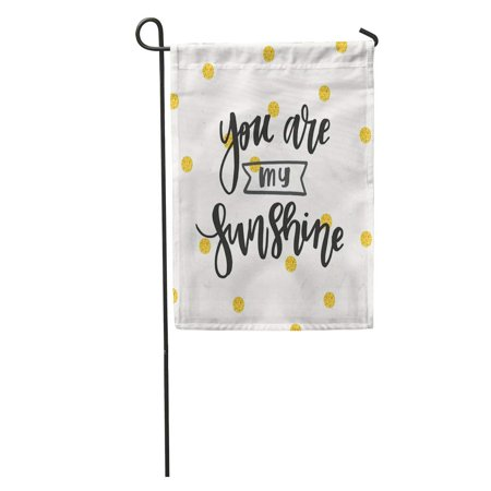 JSDART Beauty You are My Sunshine Brush Calligraphic Doodle Emotion Expression Garden Flag Decorative Flag House Banner 28x40 inch - image 1 of 2