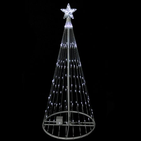 Northlight 4 Prelit Artificial Christmas Tree Polar White Led Light Show Cone Outdoor Decoration