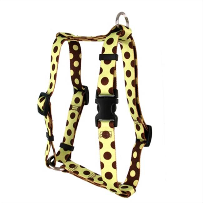 Yellow Dog Design Polka Dot Roman H Harness - Large