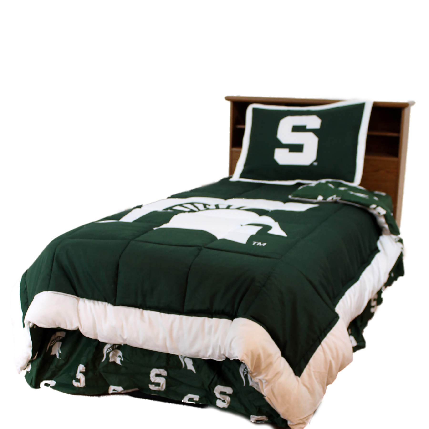Michigan State Spartans 2 Pc Comforter Set, 1 Comforter, 1 Sham, Twin