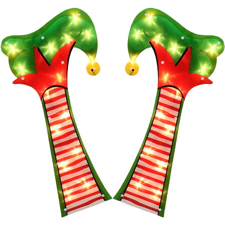 Holiday Time Christmas Lights 21  Lighted Elf Legs