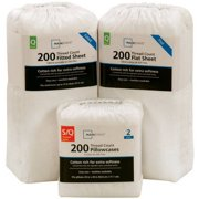 Mainstays 200 Thread Count Open Stock Collection - Flat, Fitted, or Pillowcases