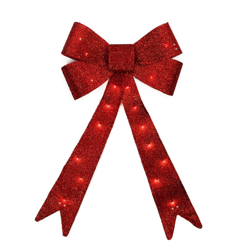 Northlight Seasonal Sparkly Bow Commercial Sized Christmas Decoration Light