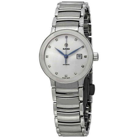 Rado Centrix Automatic Diamond Silver Dial Ladies Watch R30027733 Rados 1 Handle