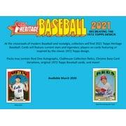 Topps 2021 Heritage MLB Baseball Trading Cards Spring Monster Box- 15 Packs + 1 Exclusive Bonus Chrome Pack