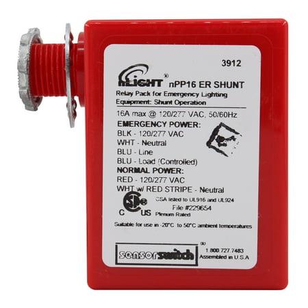 Sensor Switch NPP16-ER-SHUNT nLIGHT Emergency Shunt Power Pack, Plenum, 16A