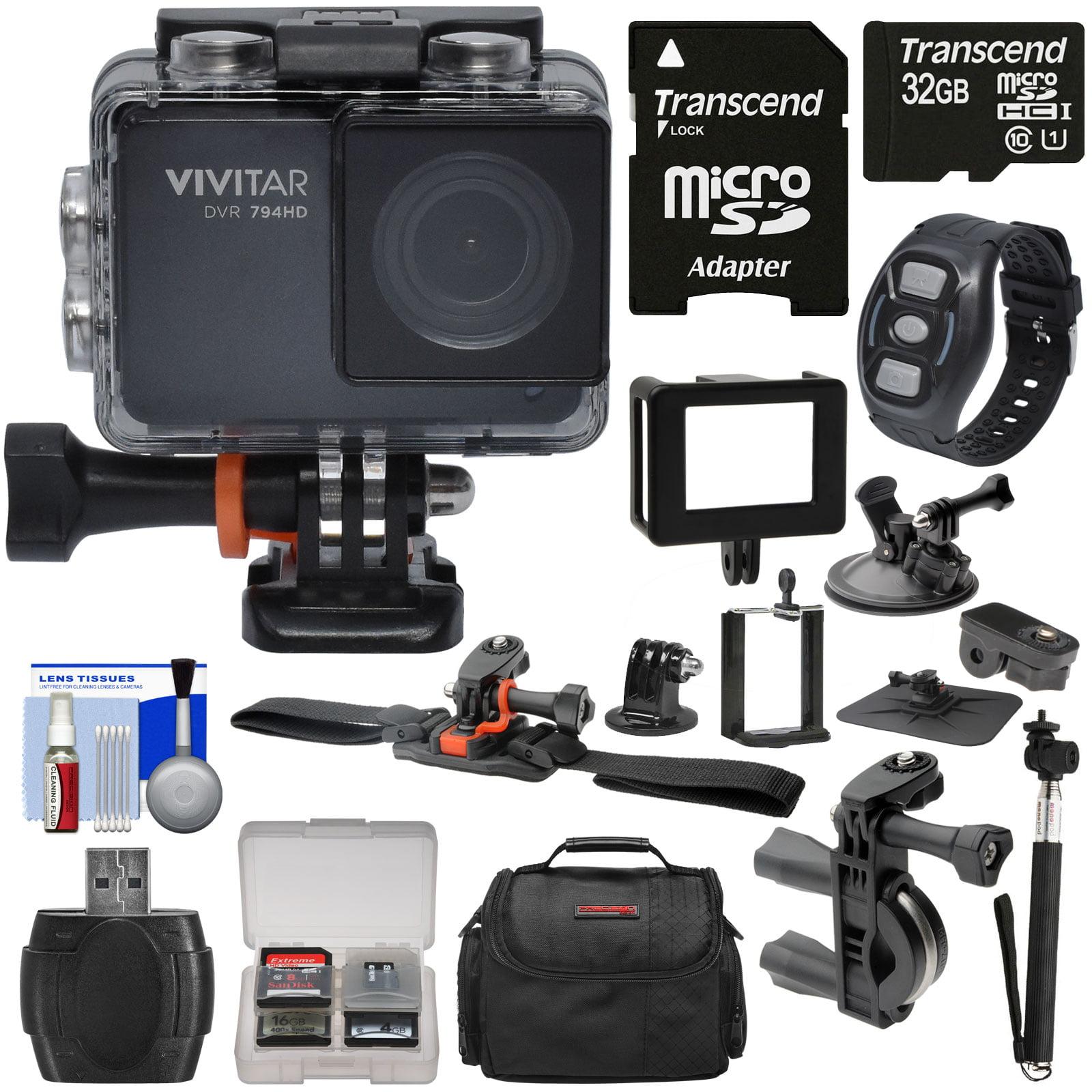 Vivitar DVR794HD 1080p HD Wi-Fi Waterproof Action Video C...