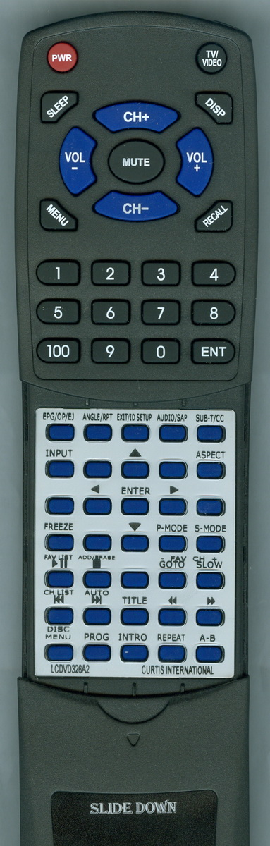Replacement Remote for Curtis LCDVD326A-2 by Redi-Remote