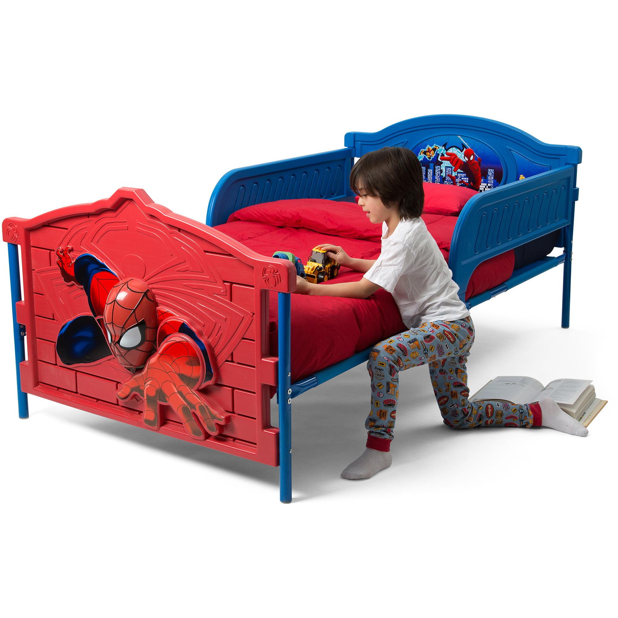 marvel spider-man 3d twin bed - walmart