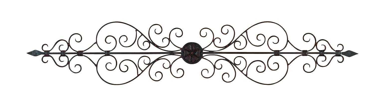 Metal Wall Plaque 44 Inches Wide by Benzara