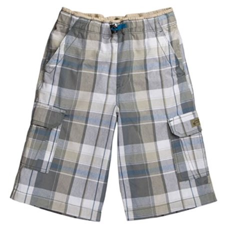 UNIONBAY BOYS LIGHTWEIGHT PULL ON CARGO SHORTS (8, Driftwood)