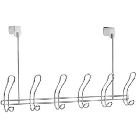 Mainstays 6-Hook Rack, Chrome (Over The Door Towel Rack)