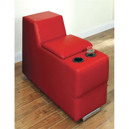Furniture of America Contreras Leatherette Storage Console in Red ()