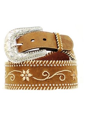 3e28ac531 Product Image Nocona Western Belt Womens Wide Floral Embroidery Brown  N3415002