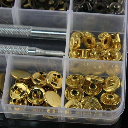 Metal Pure Bronze Copper Snap Rivets Fixing Tool Kit Leather Craft Fastener - image 2 of 7