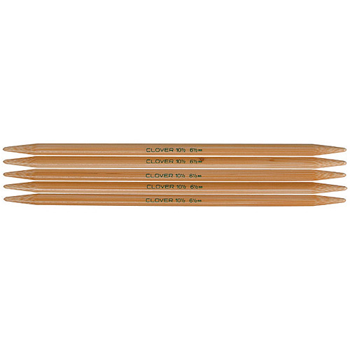 Clover Bamboo Double Point Knitting Needles, 5-Pack