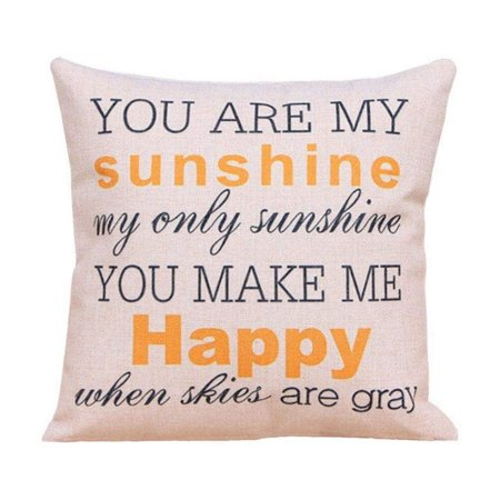 Sunshine Kids Travel Pillow - wendana Throw Pillow Case Cushion Cover 18