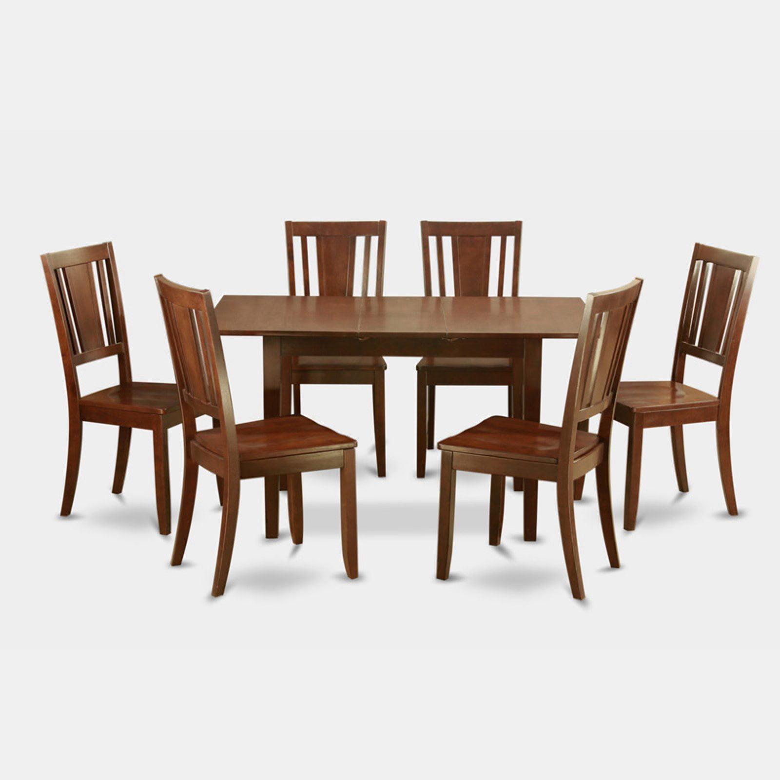 East West Furniture Norfolk 7 Piece Scotch Art Dining Table Set