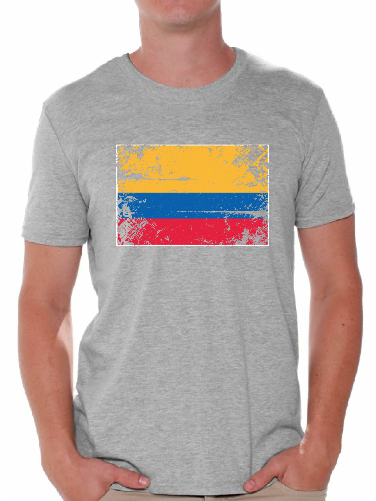 Flag Sport Colombia Colombian Fun Themed Mens T-Shirt I LOVE FOOTBALL