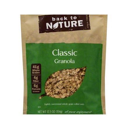 6 Pack :       Back To Nature Classic Granola, 12.5-ounce Pouches