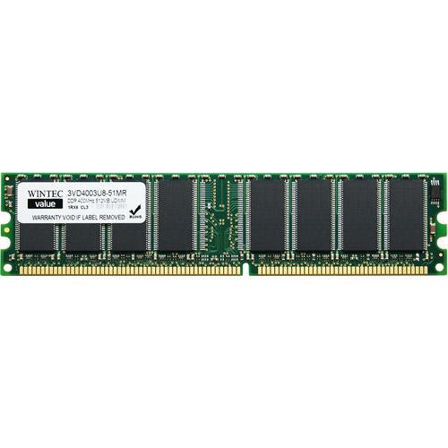 Wintec Value 512MB DDR PC3200 DIMM Desktop Memory