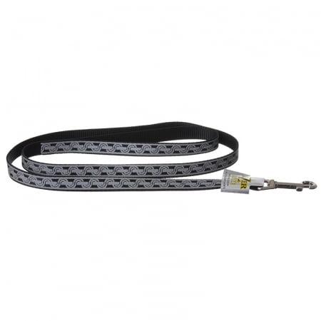 Lazer Brite Reflective Open-Design Dog Leash - Black Chain Link