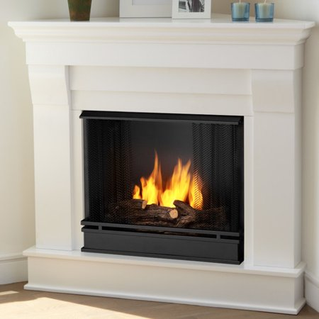 Buy Real Flame Chateau Corner Gel Fuel Fireplace at Walmart.com