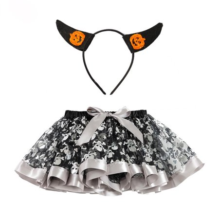 Q Dance Halloween 2019 (Staron Kids Girls Halloween Party Dance Ballet Toddler Baby Costume Tutu)