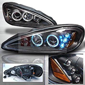 Grand Am Projector Headlights - Spec-D Tuning 99-05 Pontiac Grand Am Halo LED Projector Headlights - Black